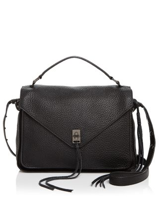 'Small Darren' Leather Messenger Bag - Black