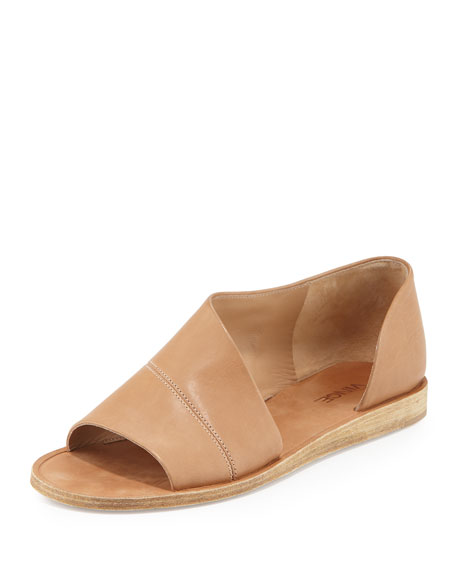 VINCE 'Tabitha' Half D'Orsay Open Toe Flat (Women), ...