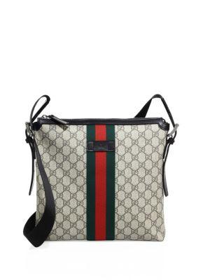 'Web Gg Supreme' Messenger Bag, Beige