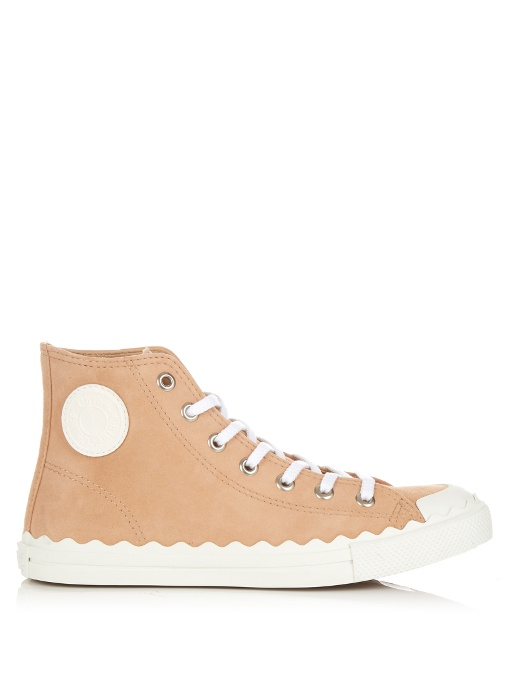 Latest Collections Cheap Online Chloé Cap Toe High-Top Sneakers Outlet Very Cheap zMkjgS7v4