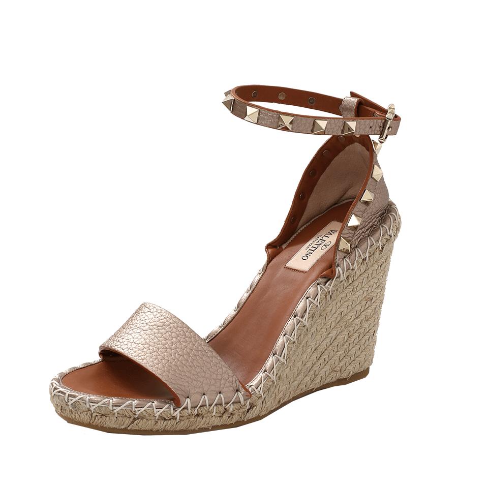 8c5c33baf14 Valentino Studded Espadrille Wedge Sandals In Alba