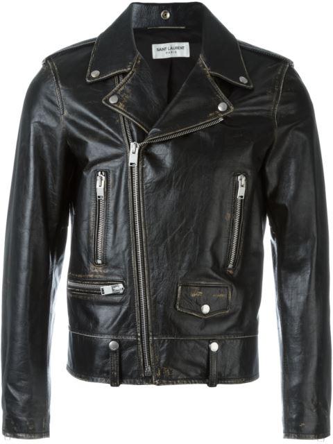 Distressed Biker Jacket, Brown