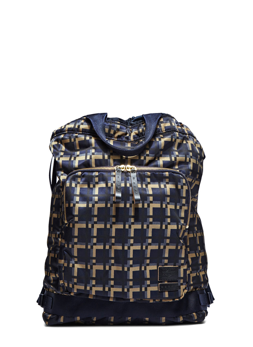 697bc64629 Marni X Porter By Yoshida   Co. Men S Printed Drawstring Backpack In Navy