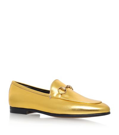 Jordaan Metallic Leather Loafer, Gold, The