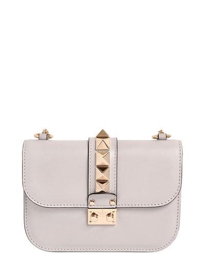 9029a32e68 Valentino Small Lock Nappa Leather Shoulder Bag