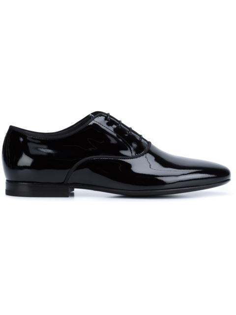 Patent-Leather Derby Shoes in Black