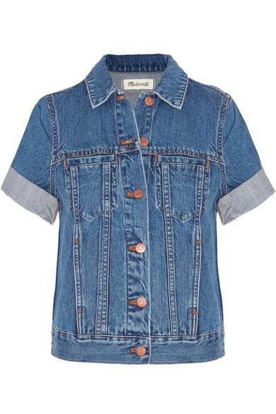 'Summer' Short Sleeve Denim Jacket in Rocco Wash