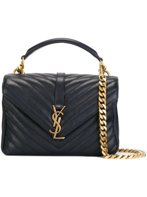Baby 'Collège Monogram' Shoulder Bag in Black