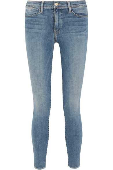 FRAME Le Skinny De Jeanne Crop Mid-Rise Jeans