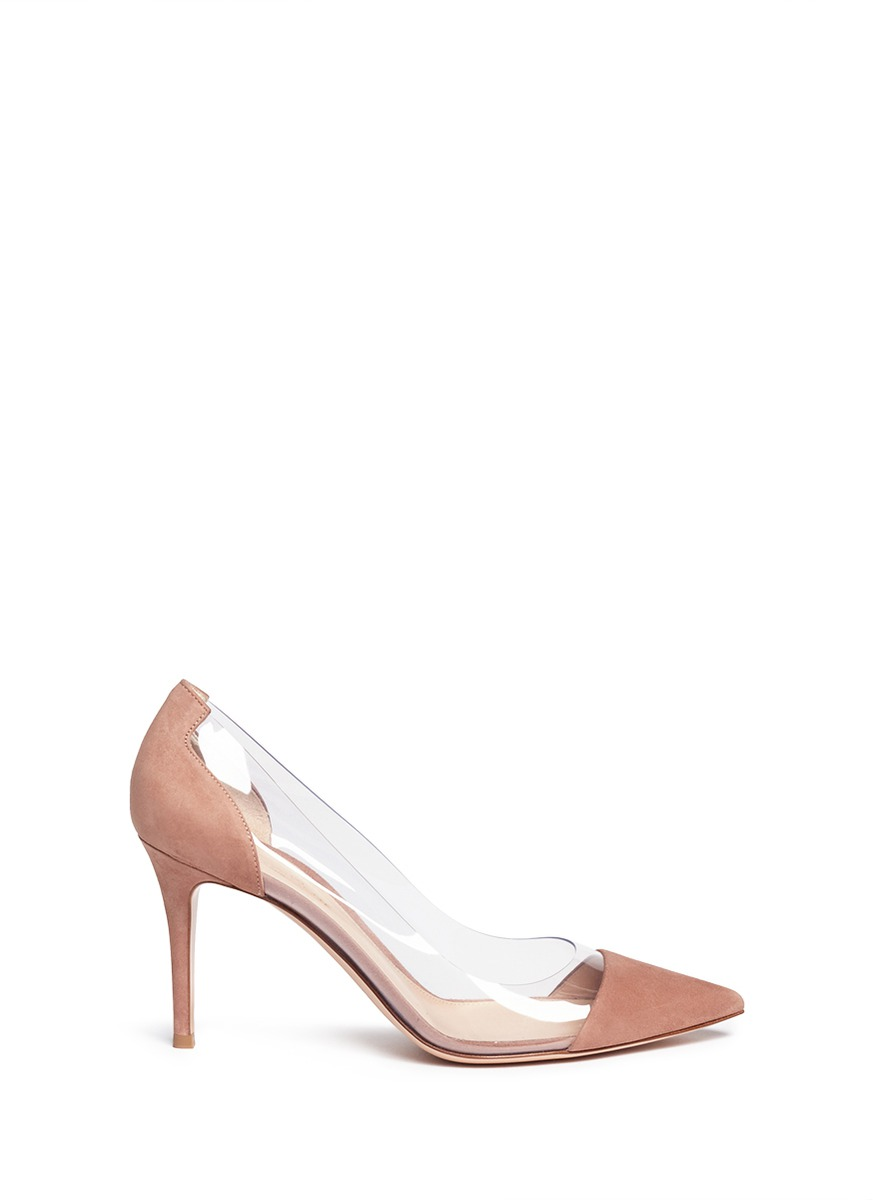 Plexi 105 Dusty Pink Patent Leather Pumps Gianvito Rossi