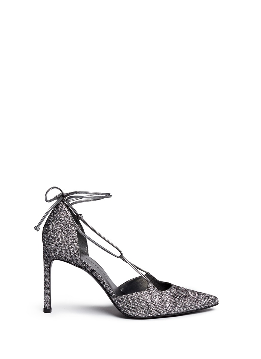 Stuart Weitzman Glitter D'Orsay Pumps Sale The Cheapest 2018 New Sast For Sale Clearance Popular ZCOaO