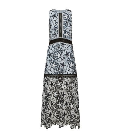 acf584ffecd SELF-PORTRAIT Sleeveless Floral Lace Popover Maxi Dress