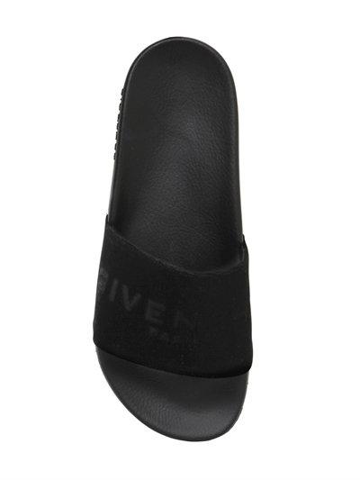 Givenchy Logo velvet slides rLrVsNk81