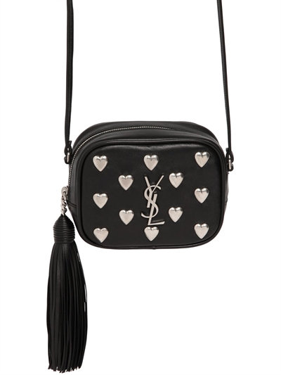 01886a17689b Saint Laurent Monogramme Blogger Embellished Leather Shoulder Bag In Black