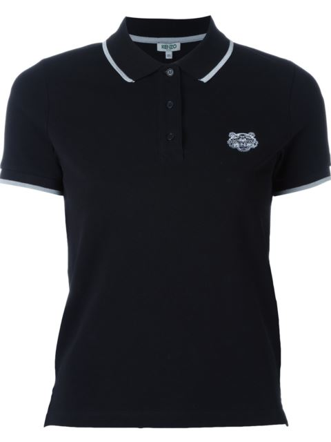 Black Tiger Crest Polo