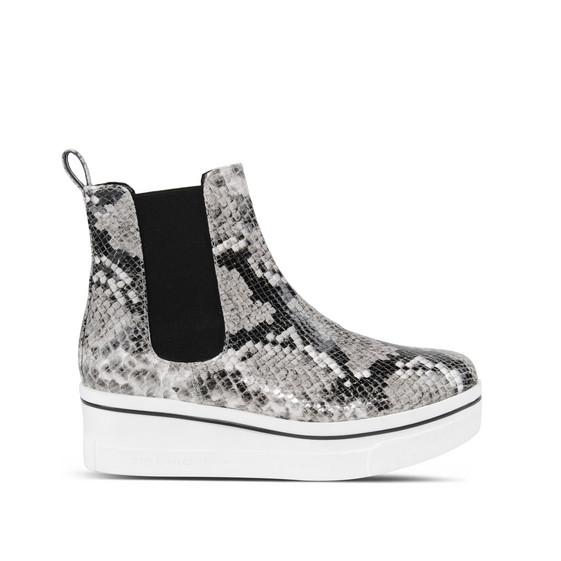 STELLA MCCARTNEY Women'S Binx Snake Print Platform Boots In Grey, Multi