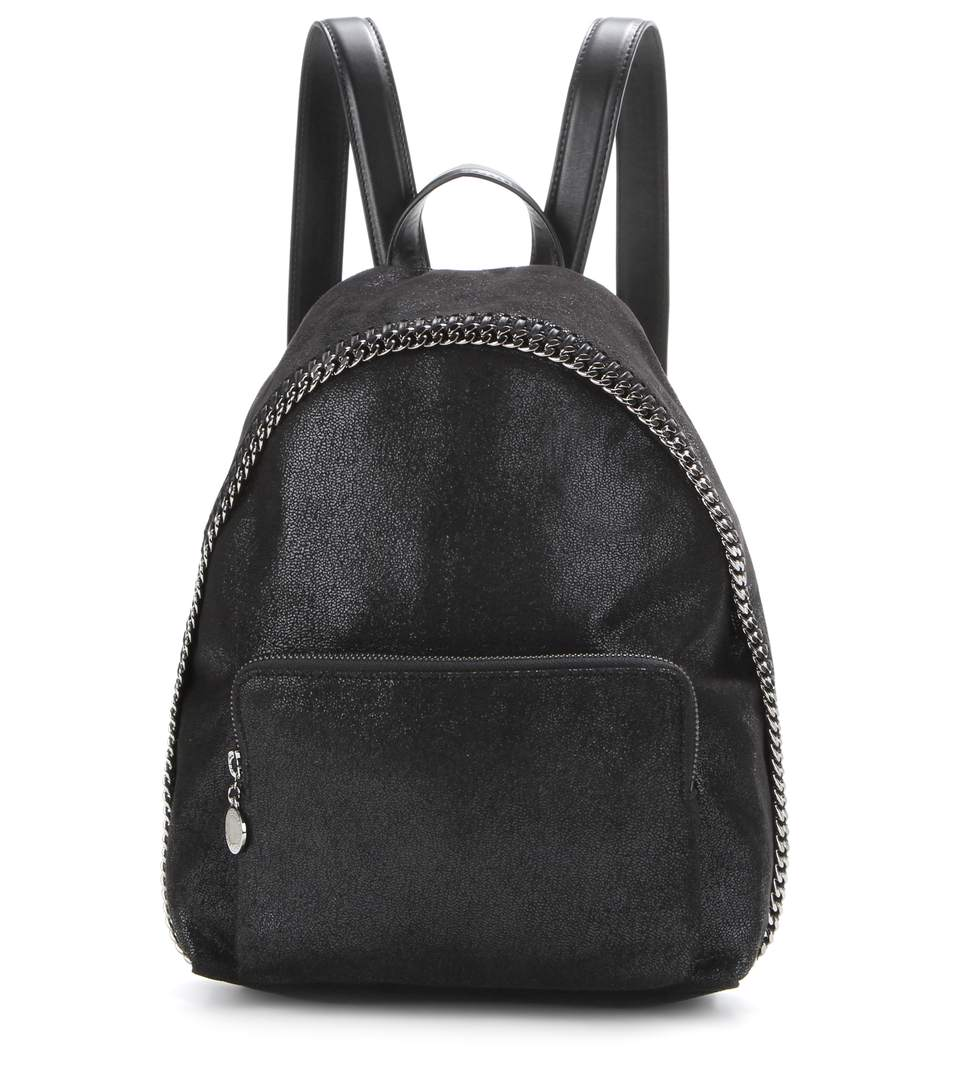 Small Falabella Faux Leather Backpack - Black, Llack