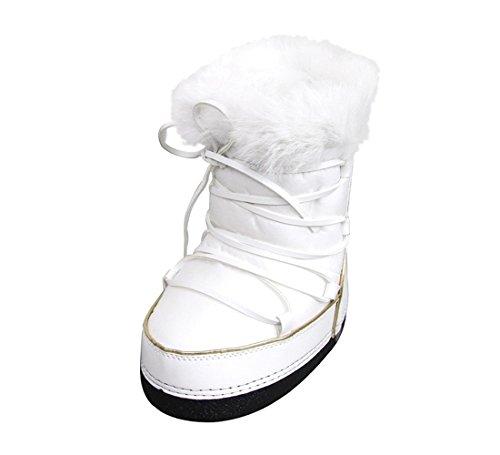 ba90a2f9b GUCCI Unisex White Nylon Kids Interlocking G Fur Trim Boots 298369 |  ModeSens
