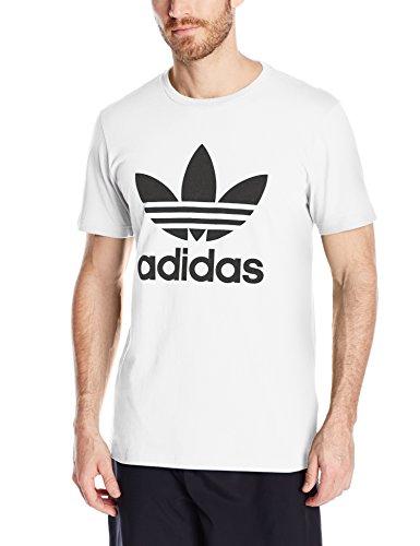 T-Shirt With Trefoil Logo Aj8828 - White, White/Black