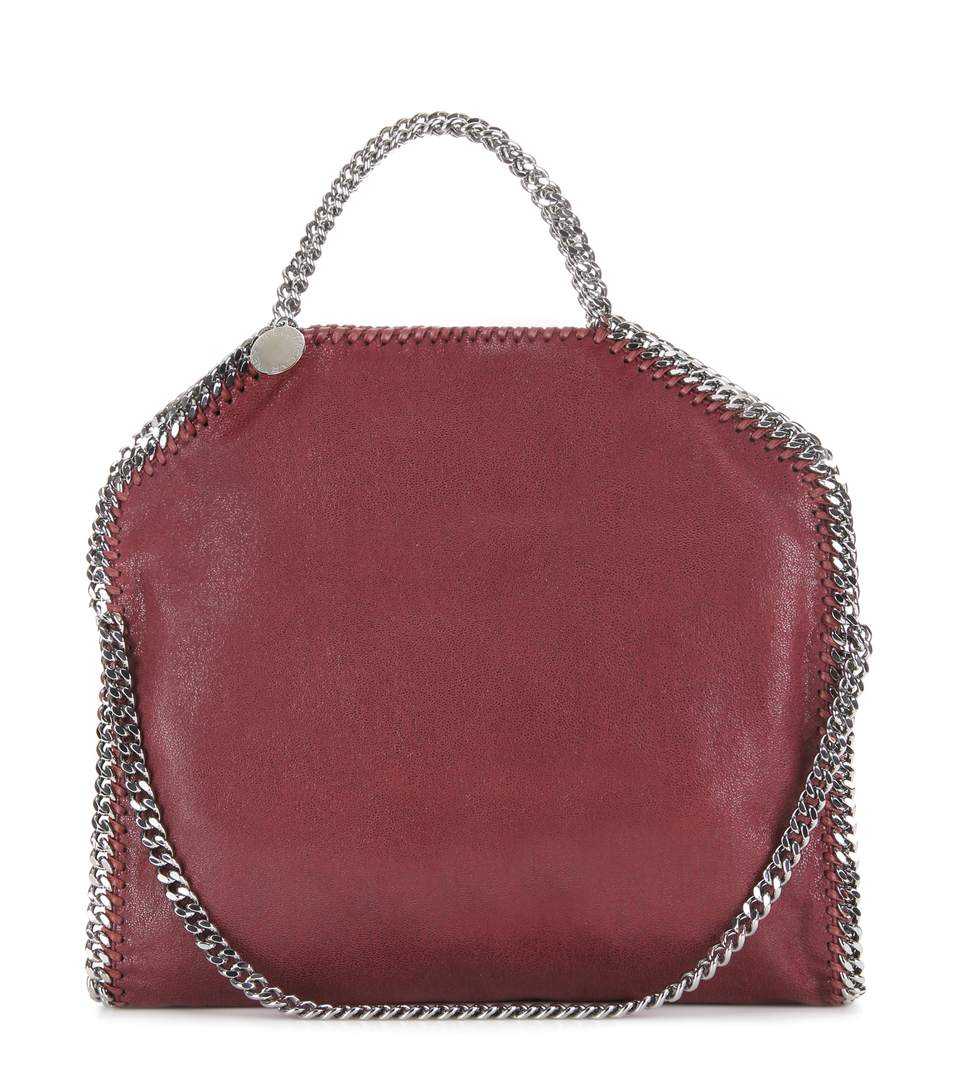 3c6ef0ea76 Stella Mccartney The Falabella Medium Faux Brushed-Leather Shoulder Bag In  Plum