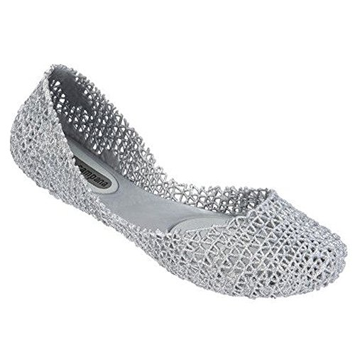 'Campana Papel Vii' Jelly Flat (Women), Silver