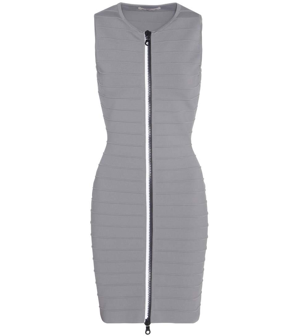 Sleeveless Zip Up Bandage Dress, Storm