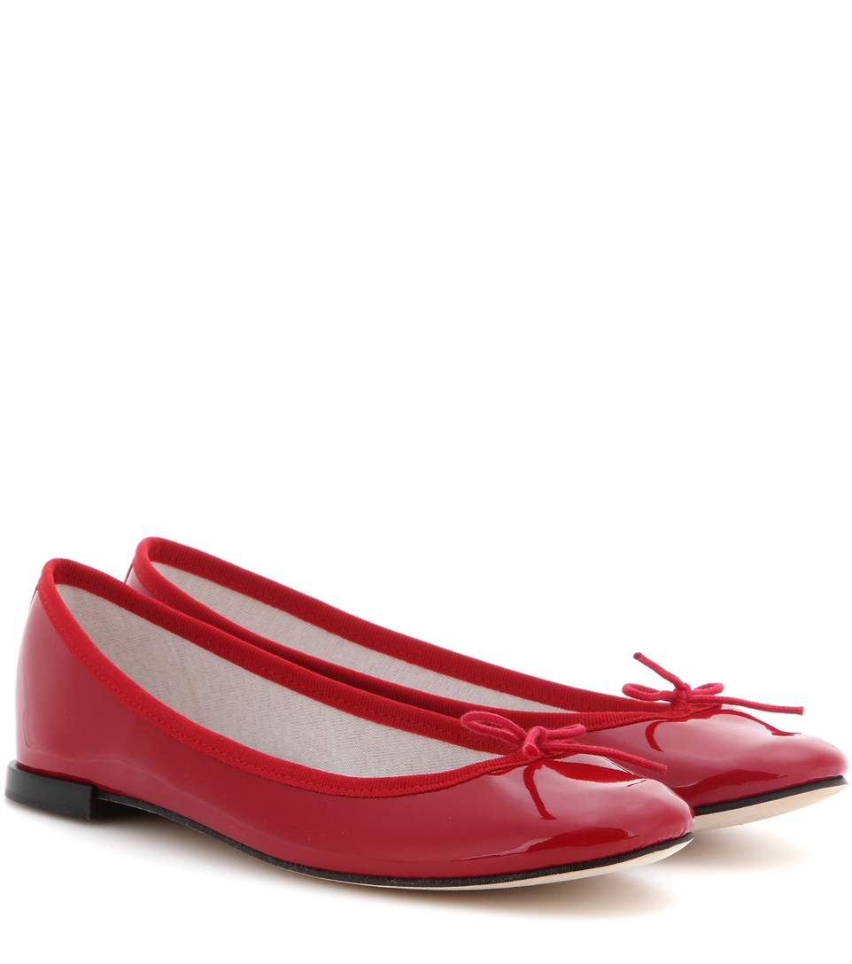 REPETTO Cendrillon Patent Leather Ballet Flats in Red