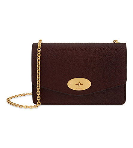 Darley Small Leather Shoulder Bag, Oxblood