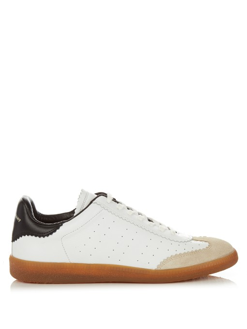 Étoile Bryce Low-Top Leather Trainers, White