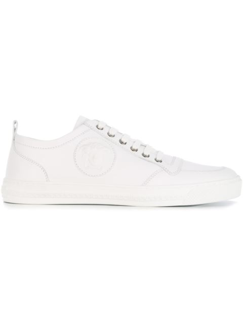 'Medusa' Low-Top Sneakers in White