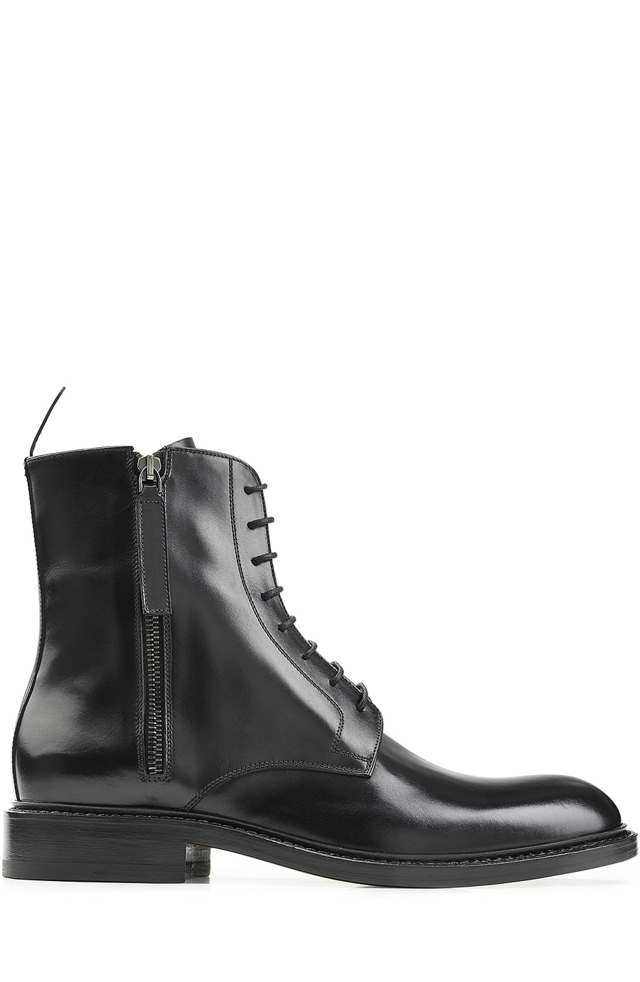 Jil Sander Leather Square-Toe Boots Store 2018 Cheap Price fhxvay