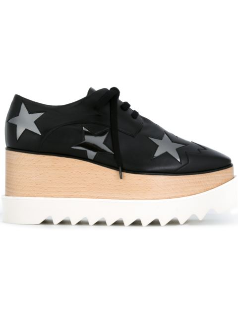 Elyse Stelle Black Faux Leather Lace Up Shoes
