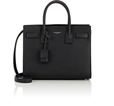 Sac De Jour Baby Supple Bonded Leather Tote Bag in Black