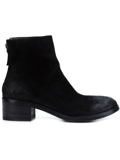 Back-Zip Ankle Boots - Black Size 5