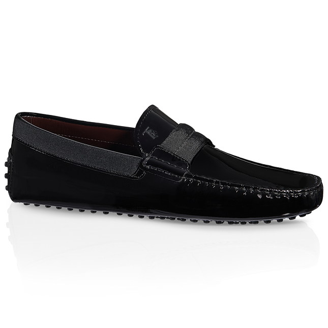 Gommini patent driving loafers Tod's P2USlj