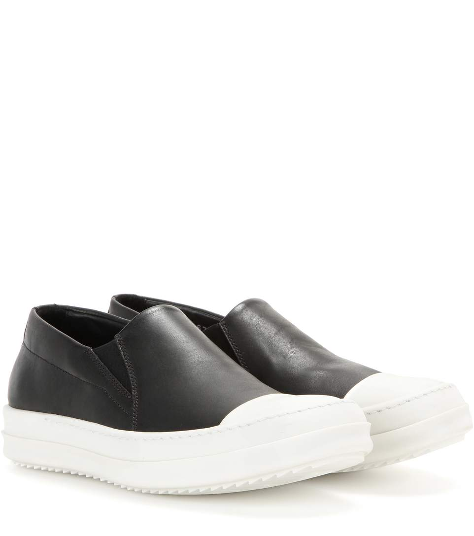 Rick Owens Boat Leather Slip-On Sneakers cheap discount sale Inexpensive discount 2014 newest cheap sale finishline DOKPm7