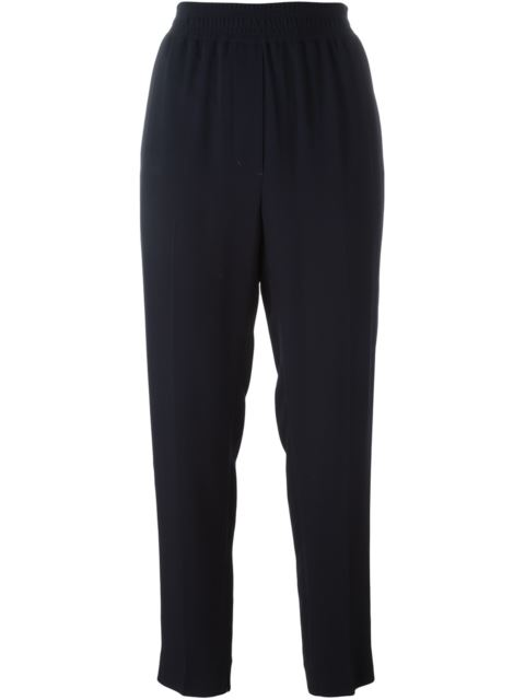 High-Waist Straight-Leg Pant W/ Leg Dart in Blue