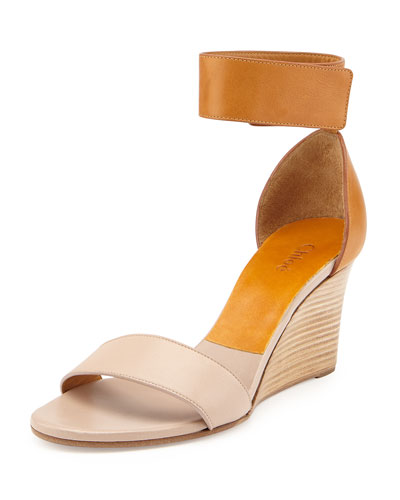 Chloé Ankle strap wedge sandals