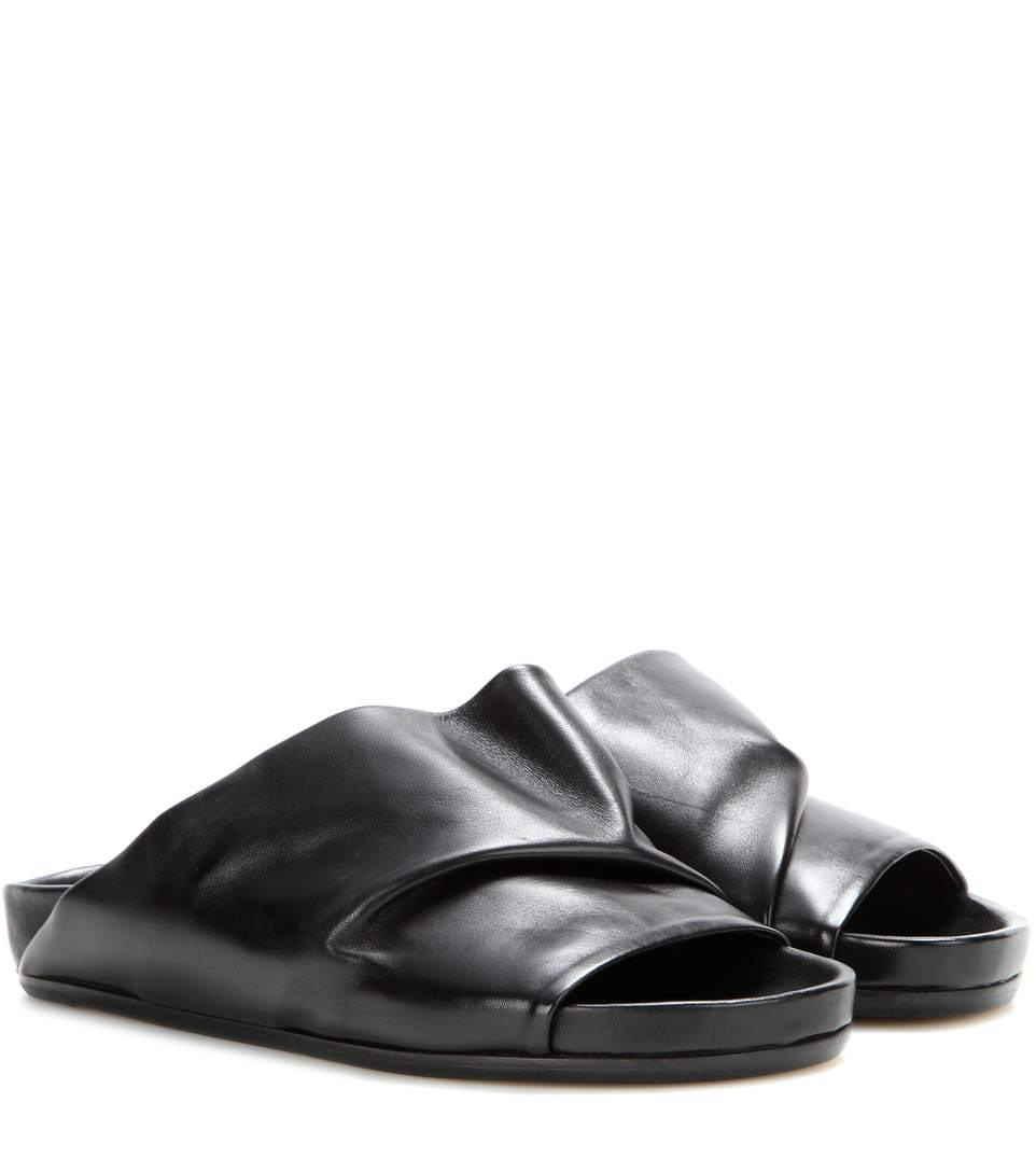 Rick Owens Leather Slingback Sandals