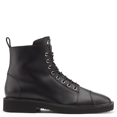 Giuseppe Zanotti Black calf leather boot CHRIS LOW