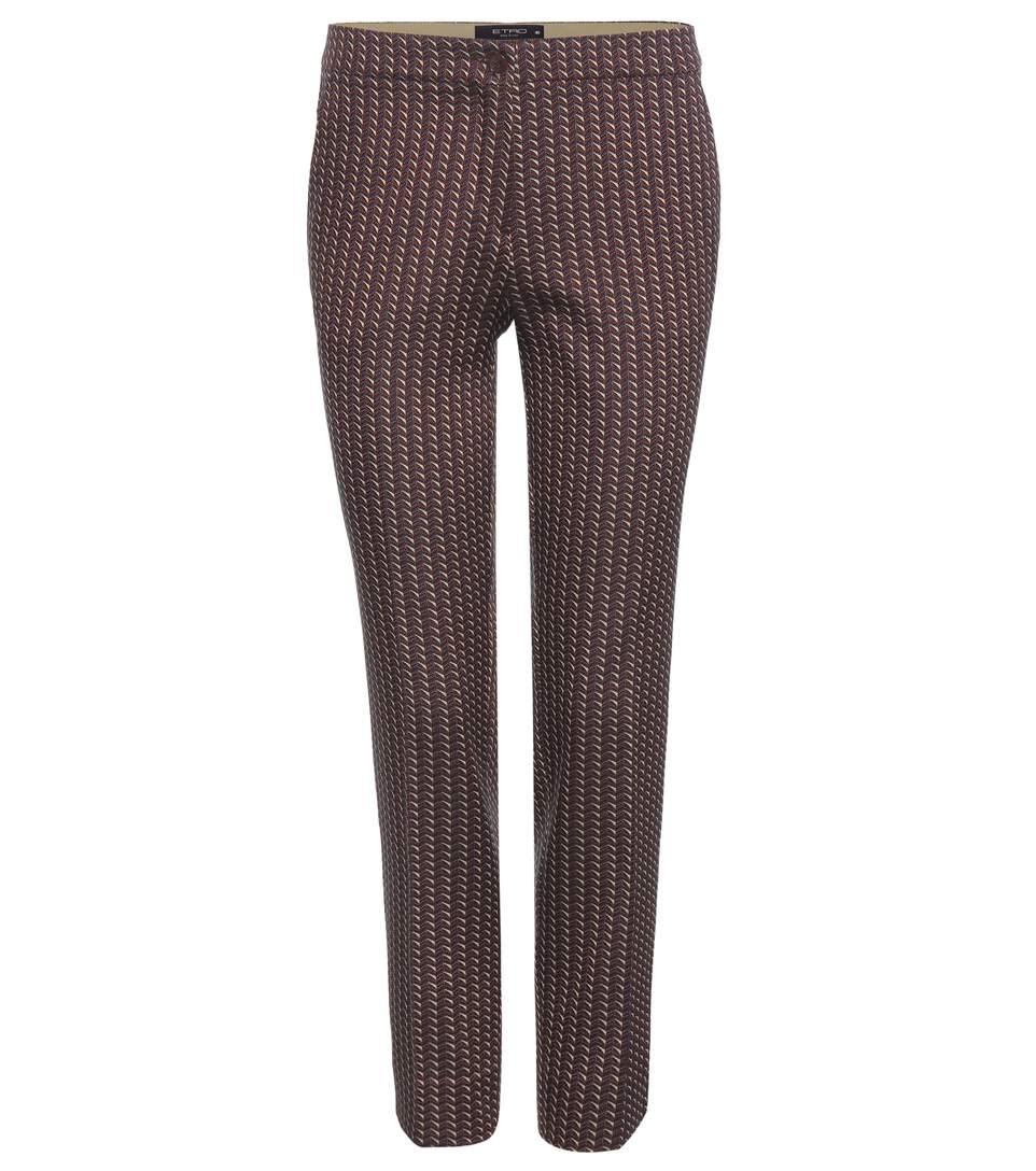 Jacquard Trousers in Multicolour