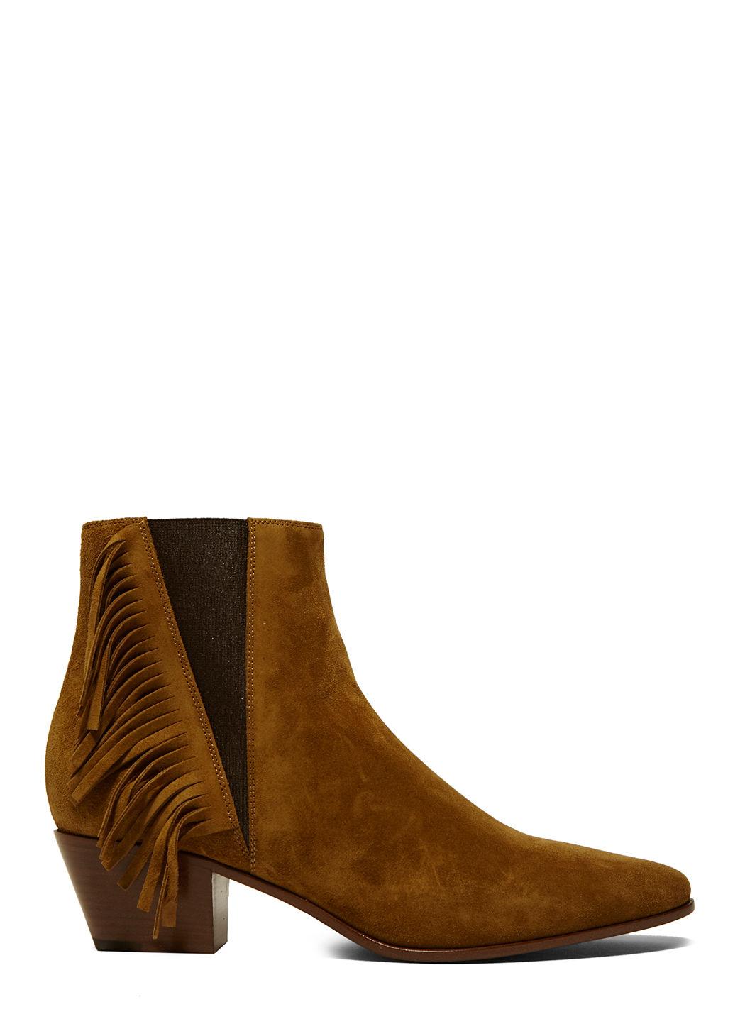 Women'S Tasselled Chelsea Boots In Brown, Nude & Neutrals