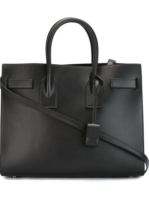 'Small Sac De Jour' Calfskin Leather Tote - Black
