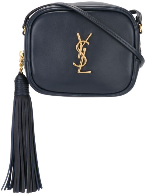 Saint Laurent 'Monogram Blogger' Crossbody Bag - Blue