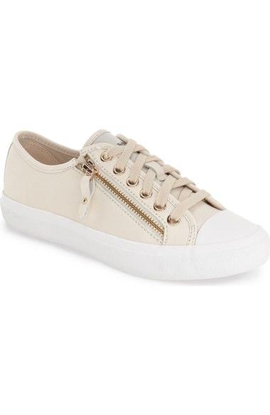 COACH 'Empire Zipper' Sneaker (Women), Chalk Leather