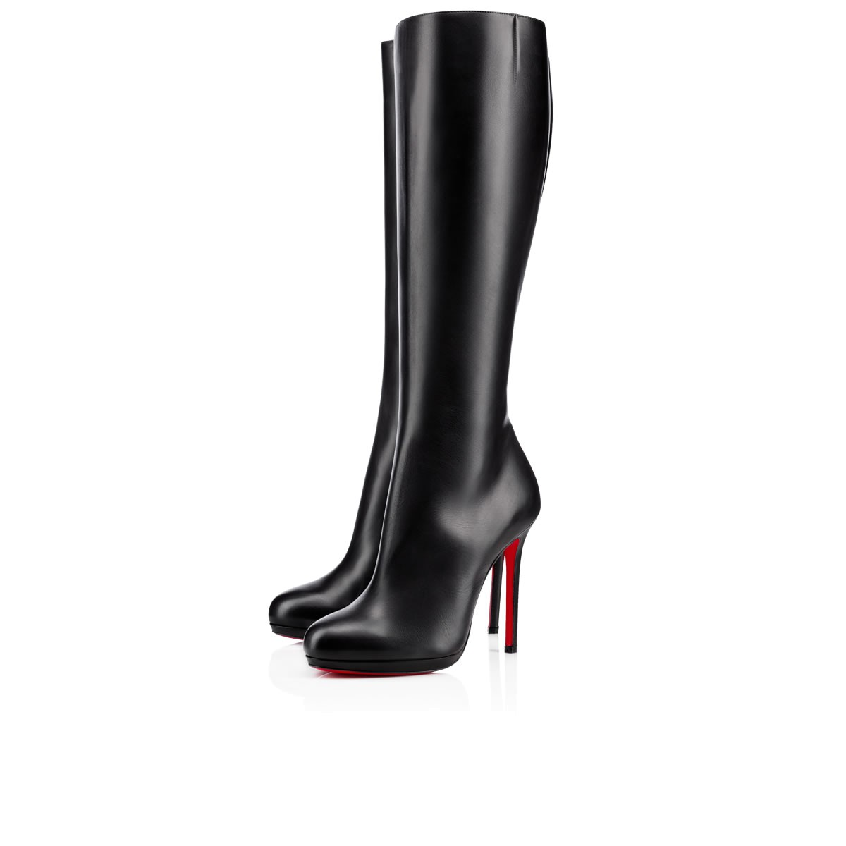 Botalili Tall Red Sole Boot in Black