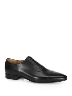 Brogue Shoes Smooth Spirit Oxford Shoes With Elongated Toe, Black