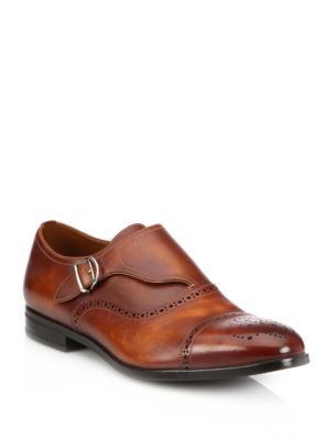 Lanor Perforated Monk-Strap Dress Shoes