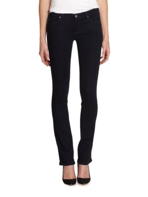 Legging Ankle Jeans In Black Stretch Sateen, Clyde