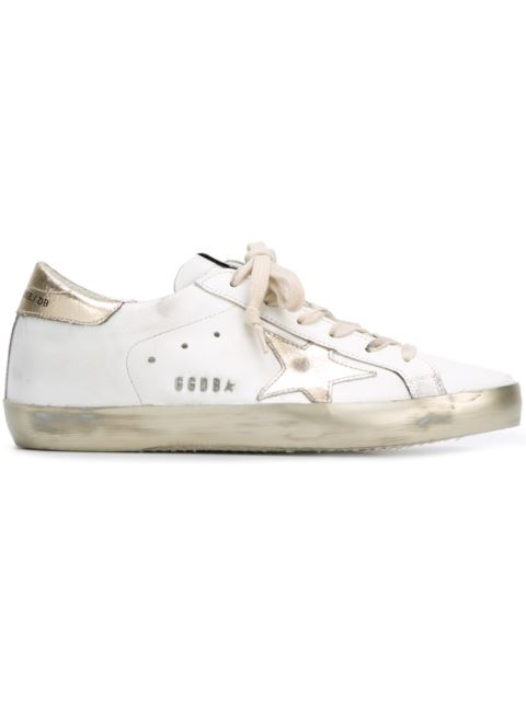 Super Star Sparkle Low-Top Leather Trainers in White